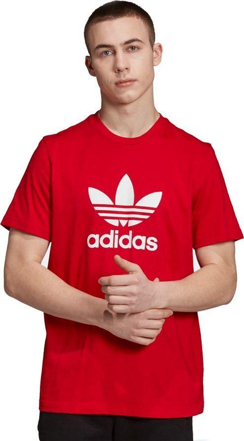 Adidas Koszulka męska Originals Trefoil Tee czerwona r. S (EJ9678) ID produktu: 6409000