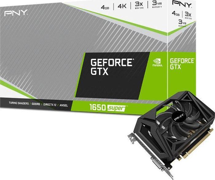 Karta graficzna PNY GeForce GTX 1650 SUPER Single Fan 4GB GDDR6 (VCG16504SSFPPB) 1