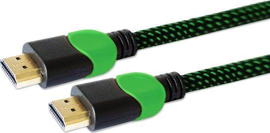 Kabel Savio HDMI - HDMI 1.8m zielony (GCL-03) 1