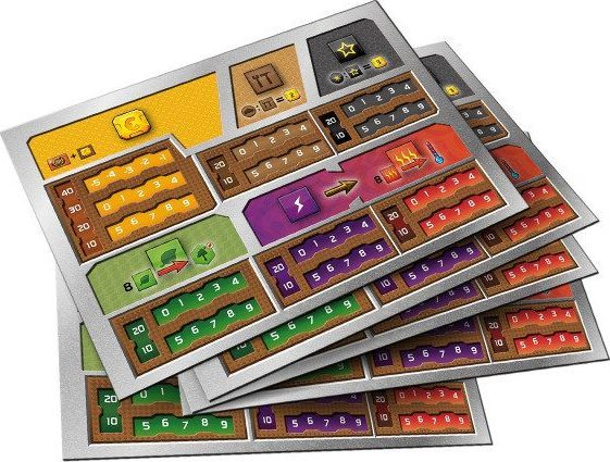 Rebel Terraformacja Marsa Zestaw 5 plansz graczy (z wycięciami) 1