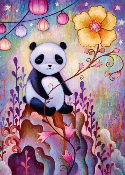 Heye Puzzle 1000 elementów Panda 1