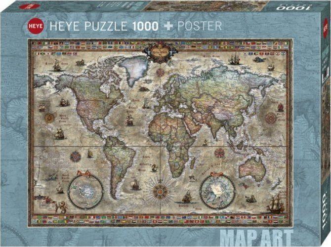 Heye Puzzle 1000 elementów Retro World 1