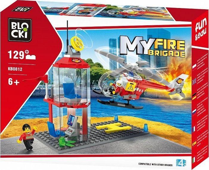 Blocki Klocki My Fire Brigade Strażnica i helikopter 129 elementów 1