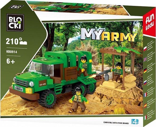 Blocki Klocki MyArmy 210 elementów Dżungla 1