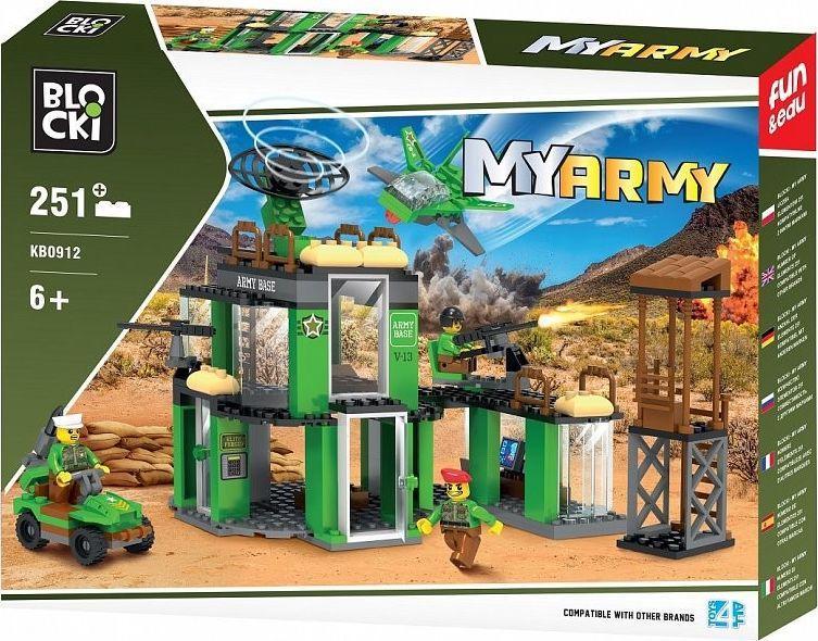 Blocki Klocki MYARMY 251 elementów Baza wojskowa 1