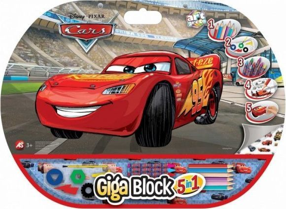 As Company Zestaw przyborów 5w1 Gigablock CARS 1
