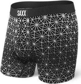 SAXX Bokserki męskie Ultra Boxer Brief Fly Black Geo Ice r. L 1