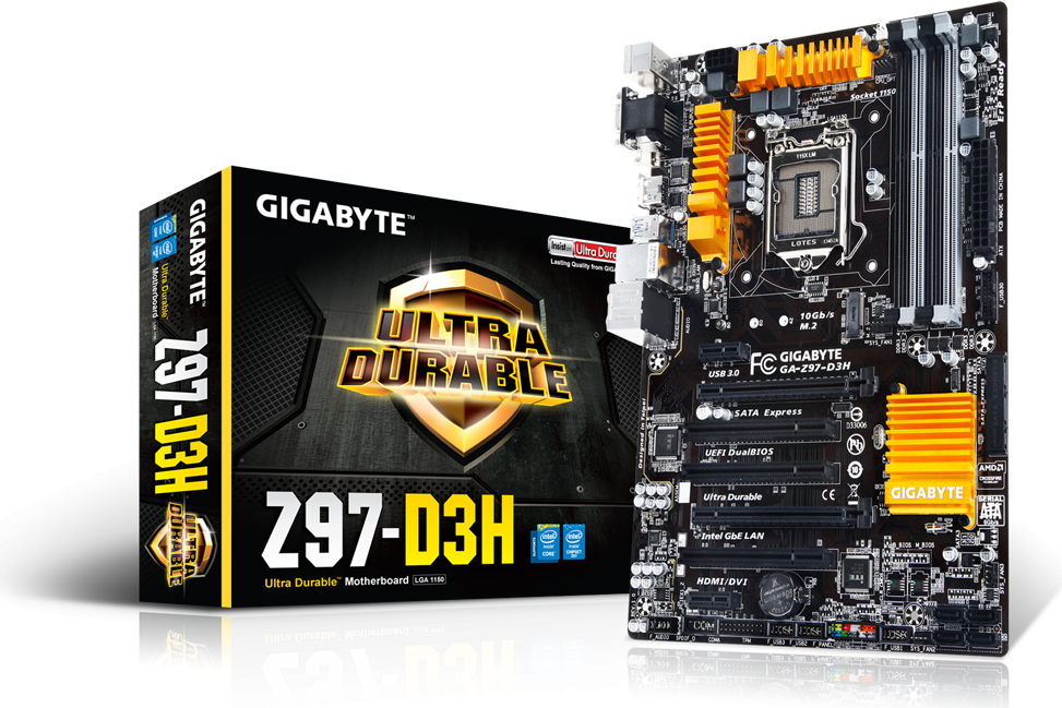 Płyta główna Gigabyte GA-Z97-D3H, Z97, DualDDR3-1600, SATA3, RAID, HDMI, DVI D-Sub, ATX (GA-Z97-D3H) 1
