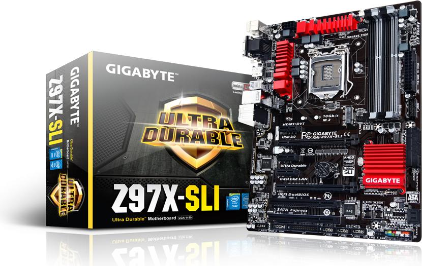 Płyta główna Gigabyte GA-Z97X-SLI, Z97, DualDDR3-1600, SATA3, RAID, HDMI, DVI, D-Sub, ATX (GA-Z97X-SLI) 1