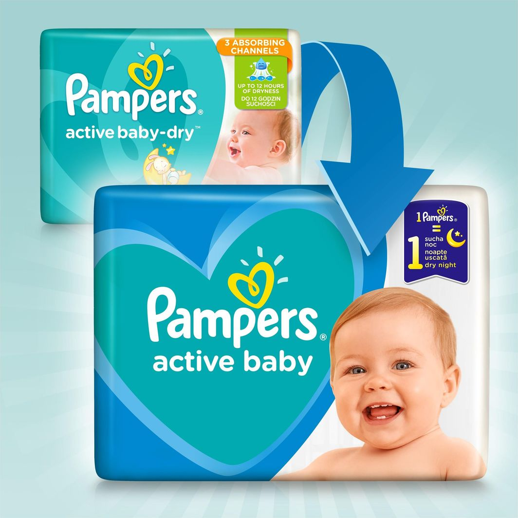 Pampers Zestaw pieluch Active Baby Mega Pack 5 (11-16 kg); 110 szt. 1