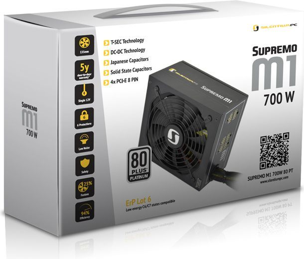 Zasilacz SilentiumPC Supremo M1 700W 80+ Platinum PSU Modular (SPC096) 1