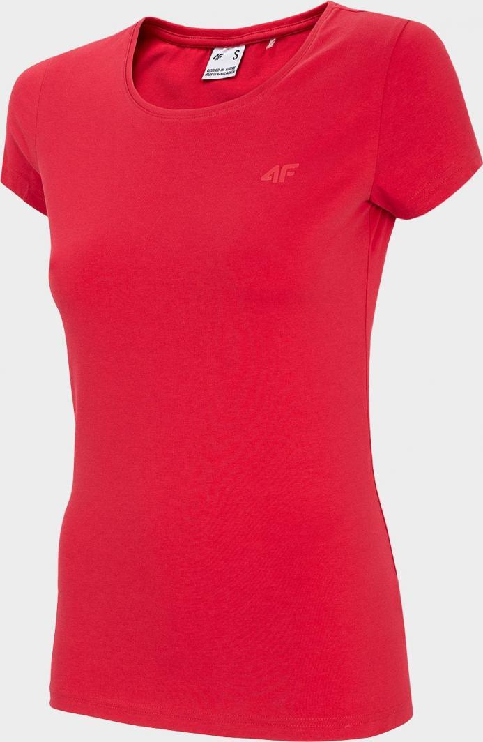 4f t-shirt damski H4Z20-TSD001 CZERWONY r.M 1