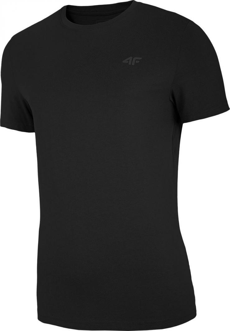 4f t-shirt męski NOSH4-TSM003 GŁĘBOKA CZERŃ r.L 1