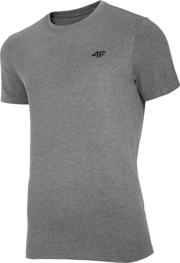4f t-shirt męski NOSH4-TSM003 ŚREDNI SZARY MELANŻ r.L 1