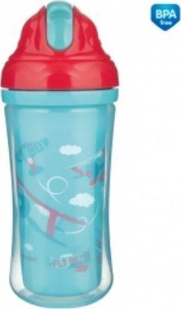 Canpol Kubek ze słomką Babies 260ml niebieski (74/052) 1