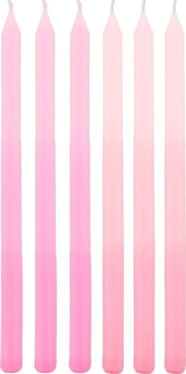 GoDan Świeczki urodzinowe różowe ombre - 6 szt. uniwersalny 1