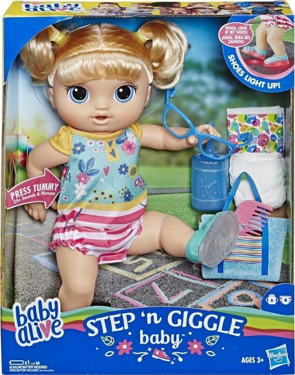Hasbro Baby Alive Step n Giggle dziewczynka blondynka (E5247) 1