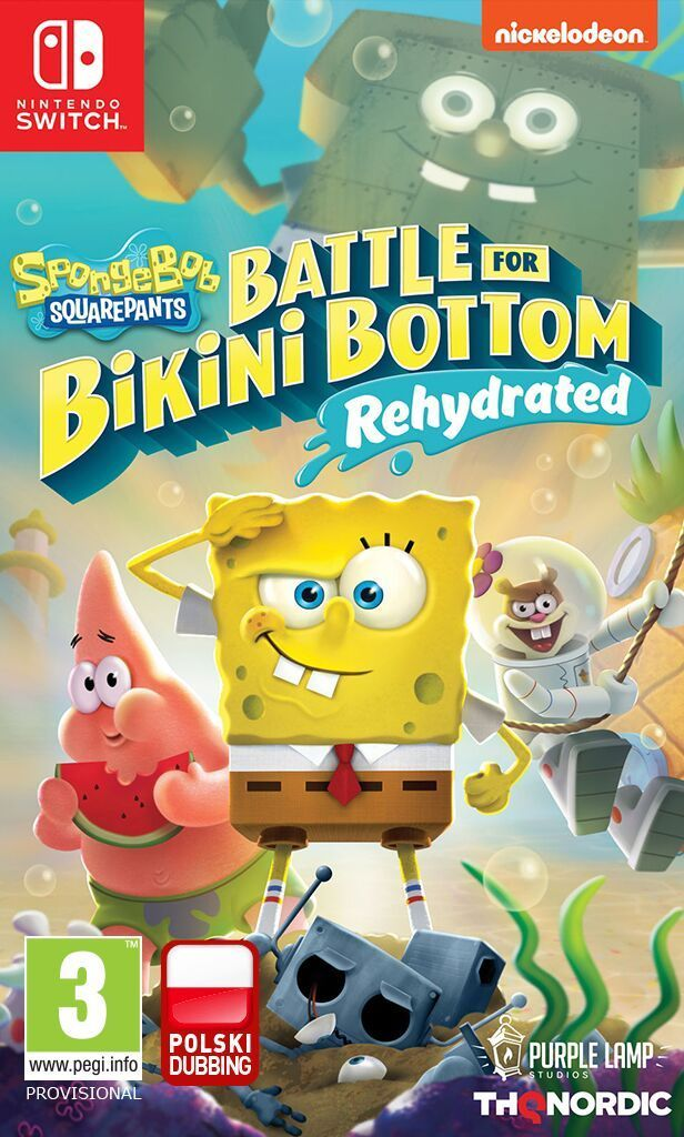 SpongeBob SquarePants: Battle for Bikini Bottom Rehydrated PL SHINY EDITION Nintendo Switch 1