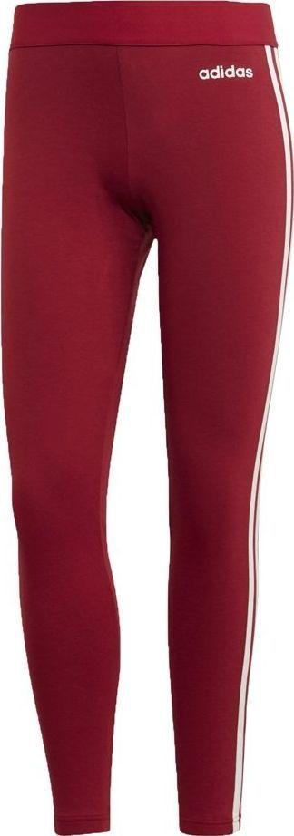 Legginsy damskie adidas Essentials 3Stripes Tight czerwone