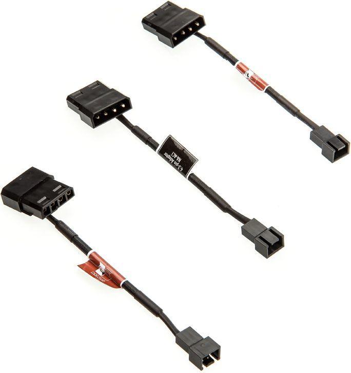 Noctua 3szt. Adaptery 4-Pin Molex- 3-Pin (NA-SAC1) 1