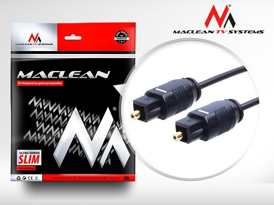 Kabel Maclean Toslink - Toslink 3m czarny (MCTV-753) 1