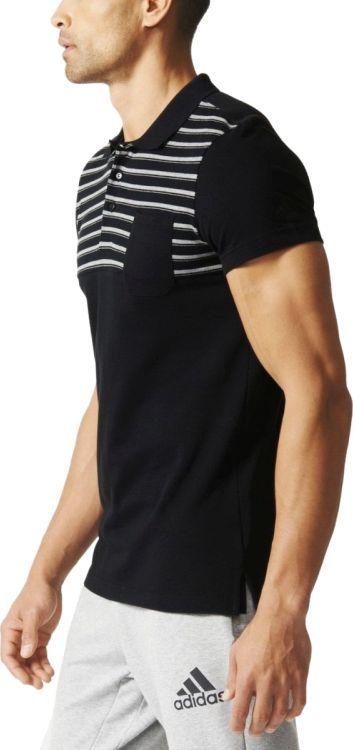 Adidas Koszulka męska Sport Essentials YD Polo czarna r. S  6CUxv