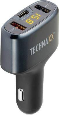 Ładowarka Technaxx TE18 Ładowarka samochodowa USB / QC3.0 / USB-C (ze wskaźnikiem naładowania akumulatora)-4823 1