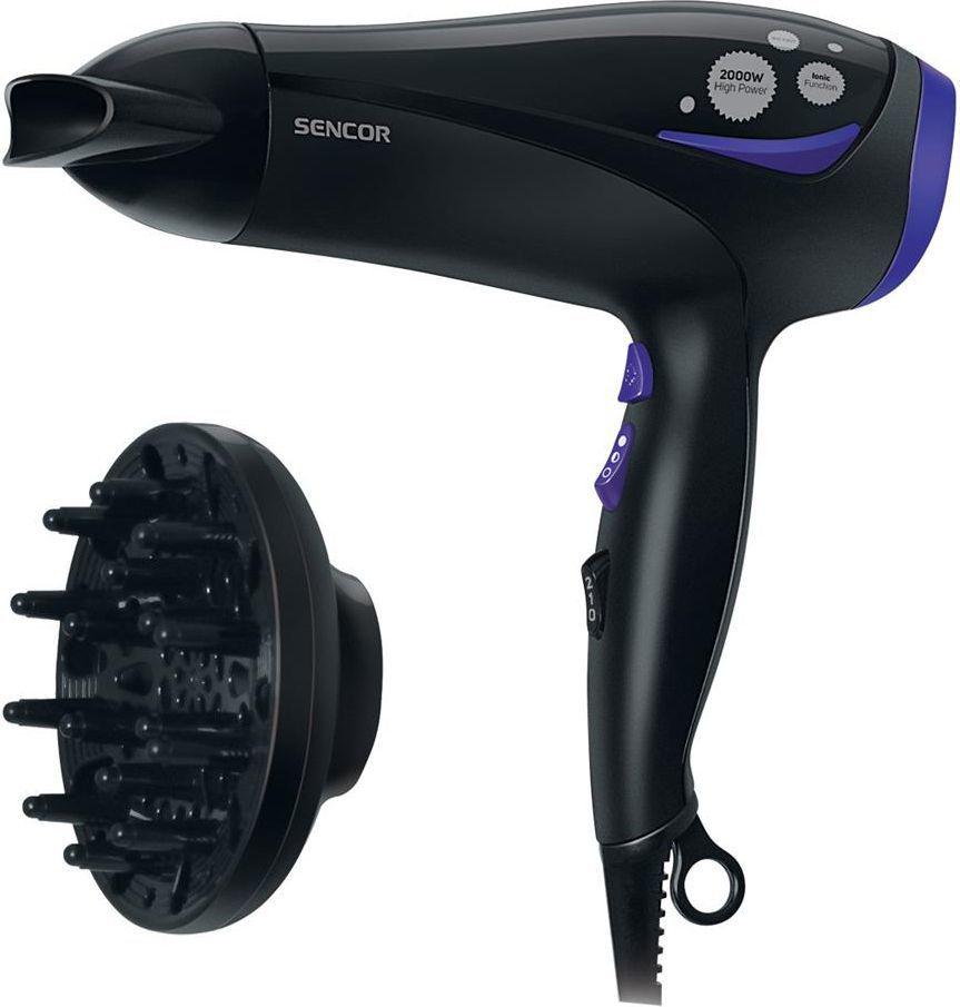 Suszarka do włosów Sencor SHD 108 VT Czarno-fioletowa 1