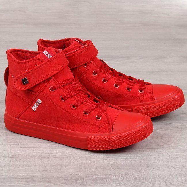 Big Star Trampki męskie FF174 czerwone r. 45 ID produktu: 6482785