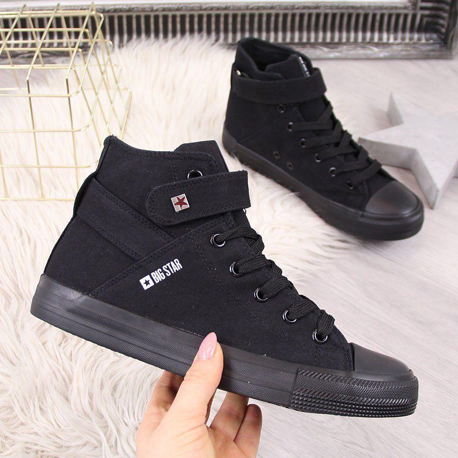 Sneakersy damskie na rzep grafitowe od 41,47 zł | Sklep