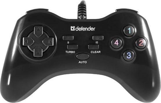 Gamepad Defender Gamepad Defender Game Master G2, 13przycisk, USB, czarny, turbo mode, Windows 2000/XP/Vista/7/8/10 1