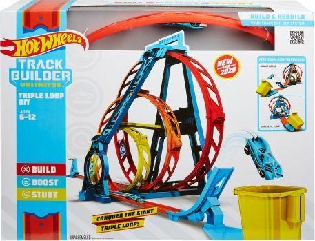 Mattel Hot Wheels Zestaw Potrójna pętla (GLC96) 1