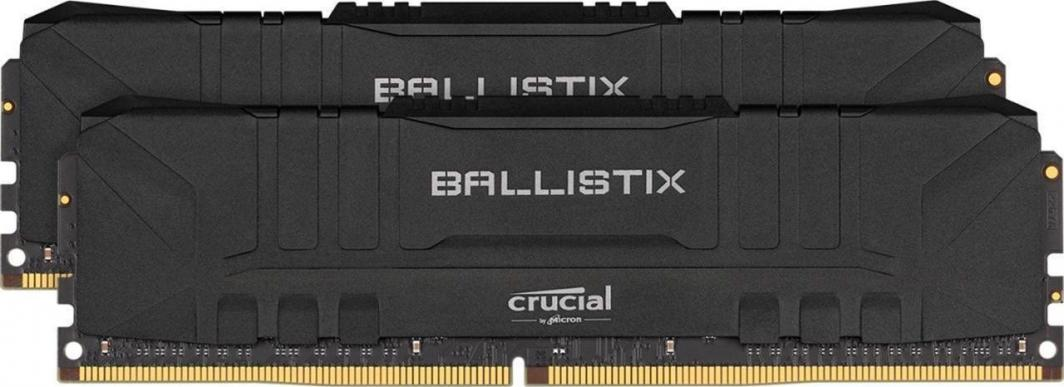 Pamięć Crucial Ballistix Black at DDR4 3000 DRAM Desktop Gaming Memory Kit 16GB (8GBx2) CL15 (BL2K8G30C15U4B) 1