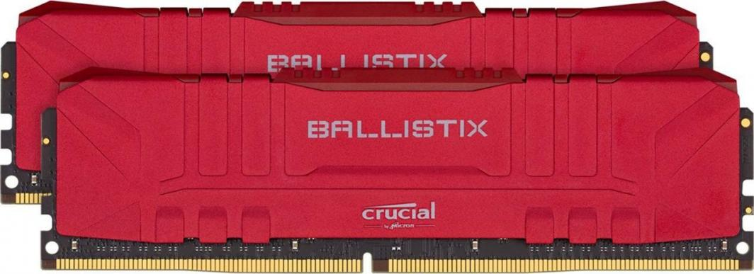 Pamięć Crucial Ballistix Red at DDR4 3600 DRAM Desktop Gaming Memory Kit 16GB (8GBx2) CL16 (BL2K8G36C16U4R) 1