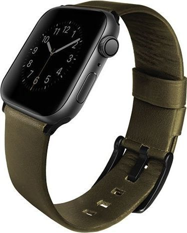 Uniq UNIQ pasek Mondain Apple Watch Series 4 44MM Genuine Leather oliwkowy/olive 1