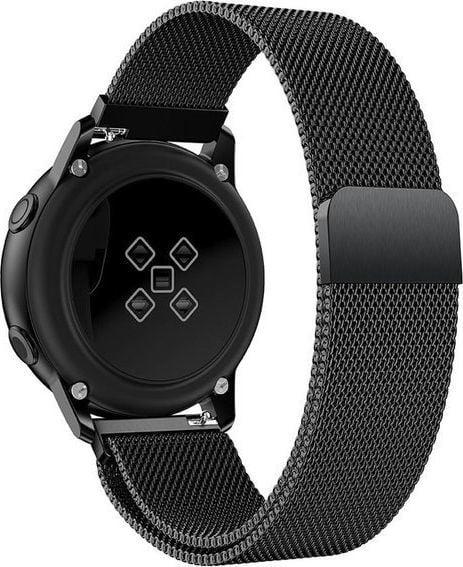 Alogy Bransoleta Milanese pasek Alogy do Samsung Gear S3/ Watch 46mm czarna uniwersalny 1
