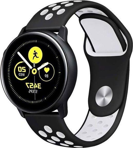 Alogy Sportowy pasek soft band Alogy do Samsung Gear S3/ Watch 46mm Czarno-biały uniwersalny 1