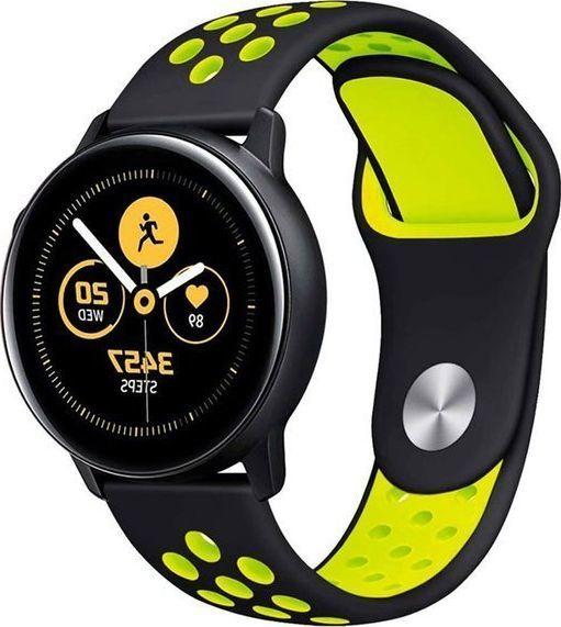 Alogy Sportowy pasek soft band Alogy do Samsung Gear S3/ Watch 46mm Czarno-żółty uniwersalny 1