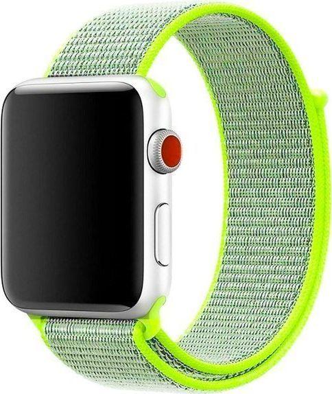 Alogy Pasek nylonowy Alogy do Apple Watch 1/2/3/4/5 42/44mm Zielony uniwersalny 1