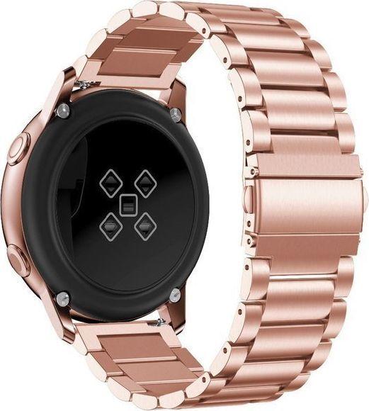 Alogy Bransoletka Alogy Stainless steel do Galaxy Watch Active 2 46mm różowa uniwersalny 1