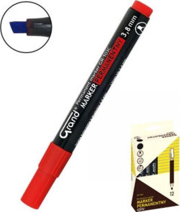 Grand Marker permanentny GR-103C czerwony (12szt) GRAND 1