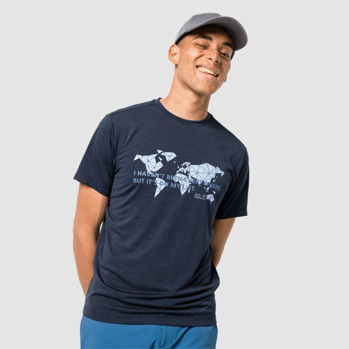 Jack Wolfskin Koszulka męska Jwp World T M night blue r. L 1