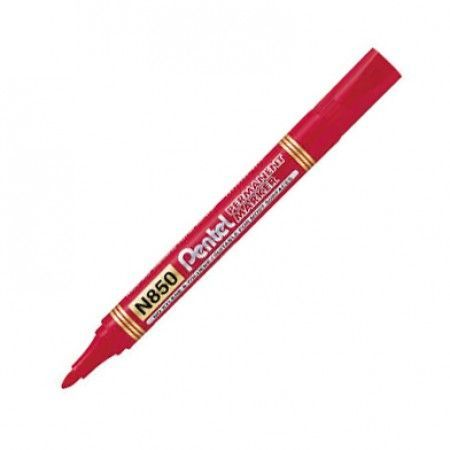Pentel Marker permanentny N850 okrągła końcówka czerwony (42K053B) 1