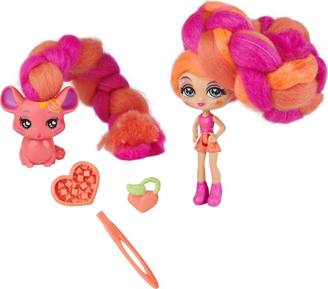 Spin Master Zestaw Candylocks Lalka Posie Peach & Fin-chilla 7.5cm 1