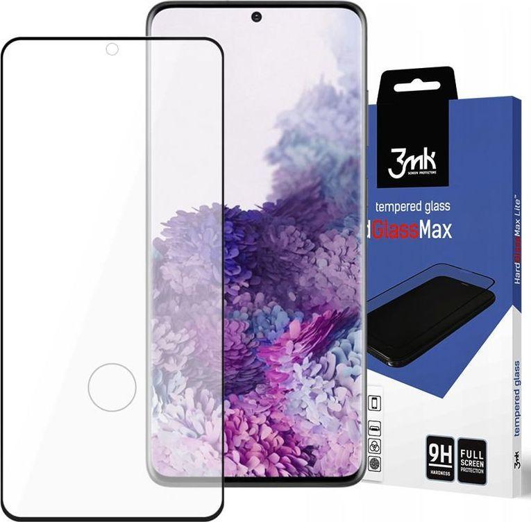 3MK Szkło 3mk HardGlass Max czytnik linii do Samsung Galaxy S20 Black uniwersalny 1