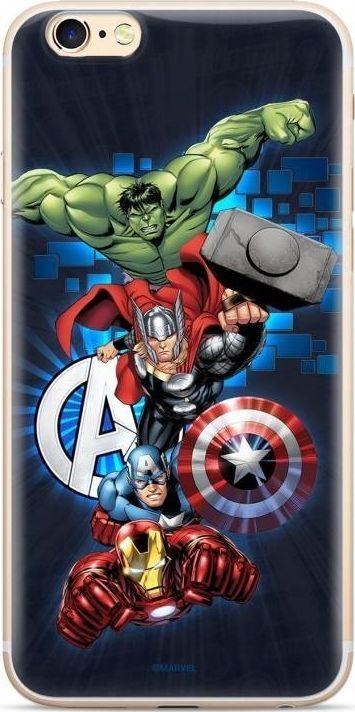Marvel Oryginalne etui Marvel z nadrukiem Avengers 001 do iPhone 11 Pro Max granatowy (MPCAVEN136) uniwersalny 1