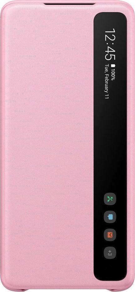 Samsung Clear View Standing Cover futerał etui z inteligentną klapką Samsung Galaxy S20 Plus różowy (EF-ZG985CPEGEU) 1