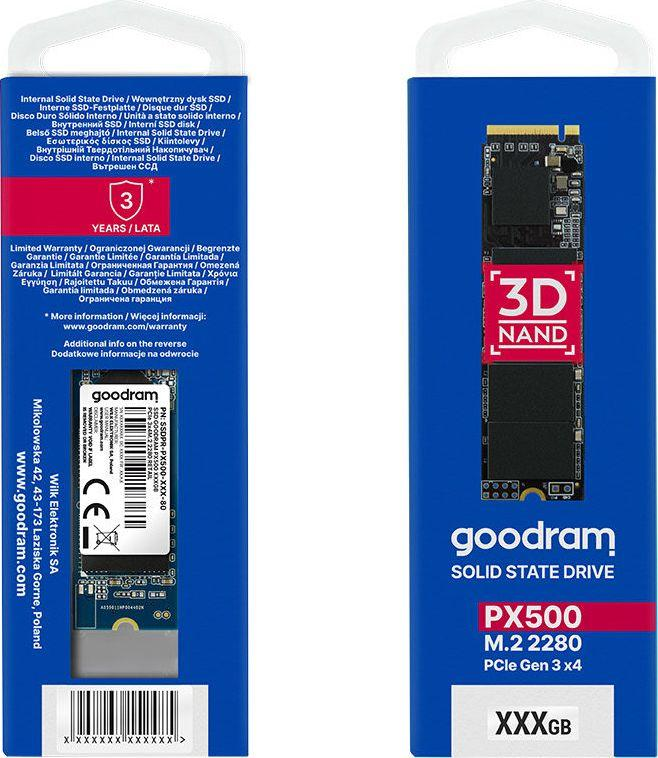 Dysk SSD GoodRam PX500 512 GB M.2 2280 PCI-E x4 Gen3 NVMe (SSDPR-PX500-512-80) 1