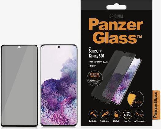 PanzerGlass Szkło hartowane do Samsung Galaxy S20 Privacy Case Friendly Black (P7219) 1