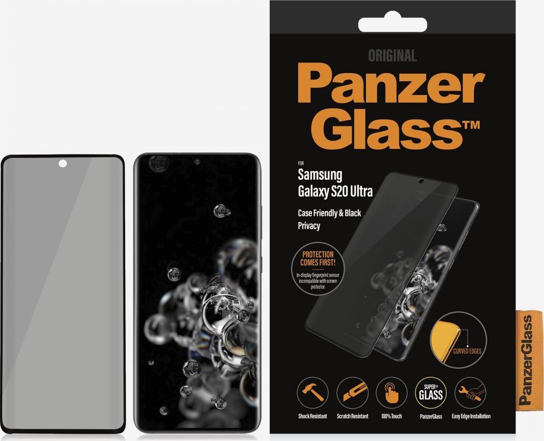 PanzerGlass Szkło hartowane do Samsung Galaxy S20 Ultra Case Friendly Privacy (P7221) 1